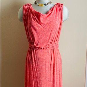 Max Studio Coral Maxi Dress Roped Waist Size L